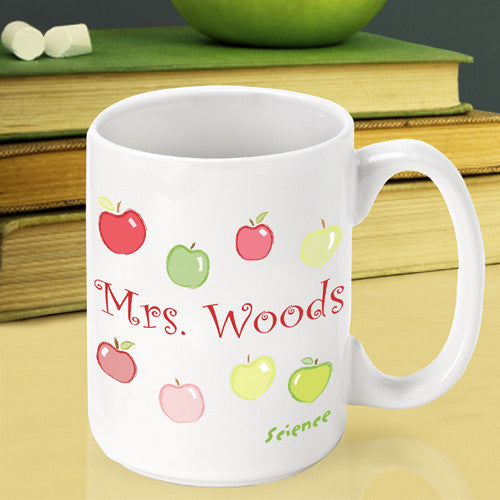 Happy Apples Teacher Mug ~ Personalized