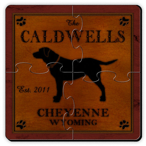 Cabin Puzzle Coasters ~ Personalized