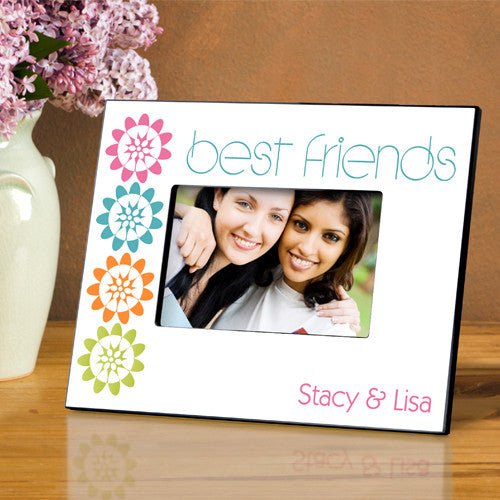 Personalized BFF Playful Peonies Picture Frame