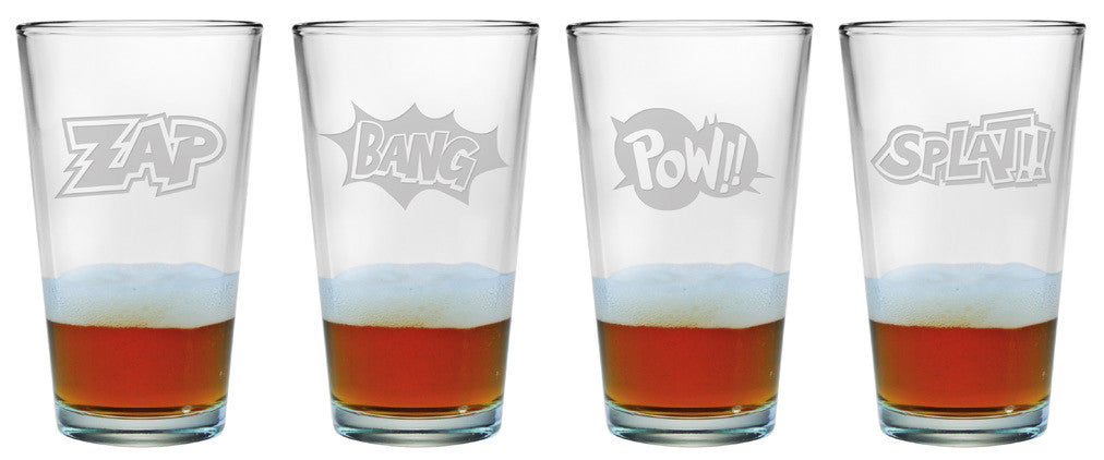 Cartoon Sounds Pint Glasses