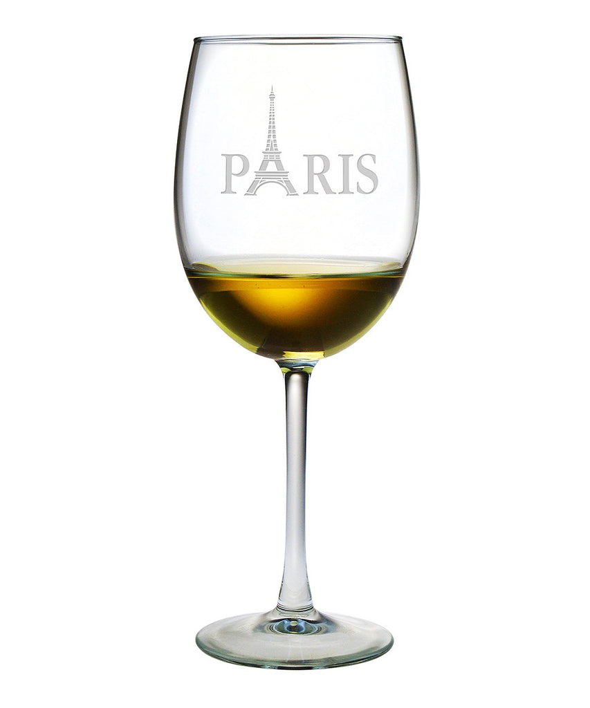 Paris Wine Glasses ~ Set of 4