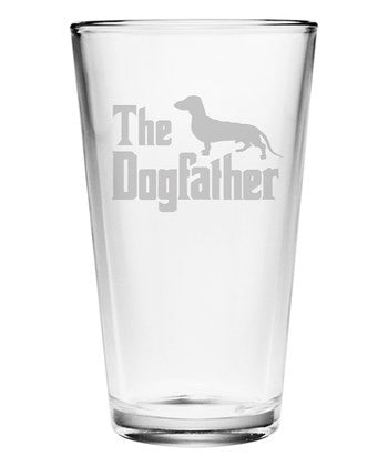 The Dogfather Pint Glasses ~ Set of 4