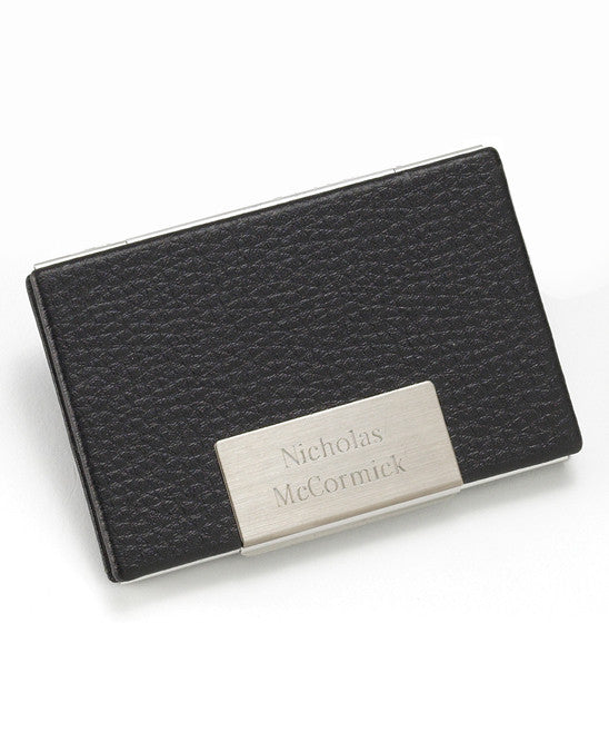 Leather Business Card Holder ~ Personalized - Premier Home & Gifts