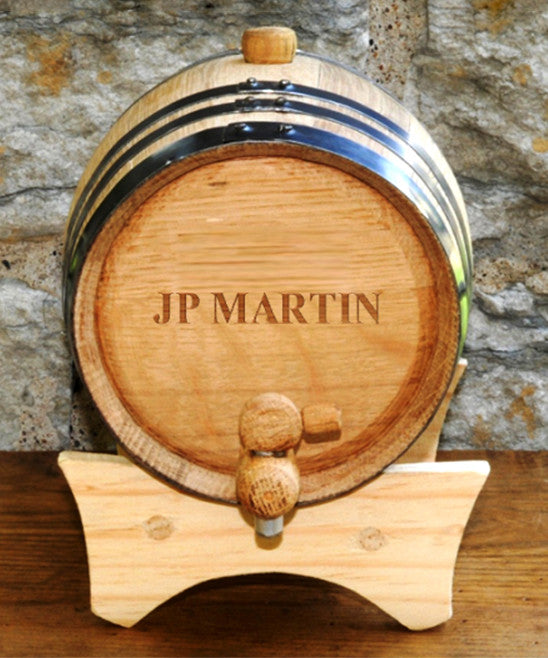 Mini-Oak Whiskey Barrel Cask ~ Personalized