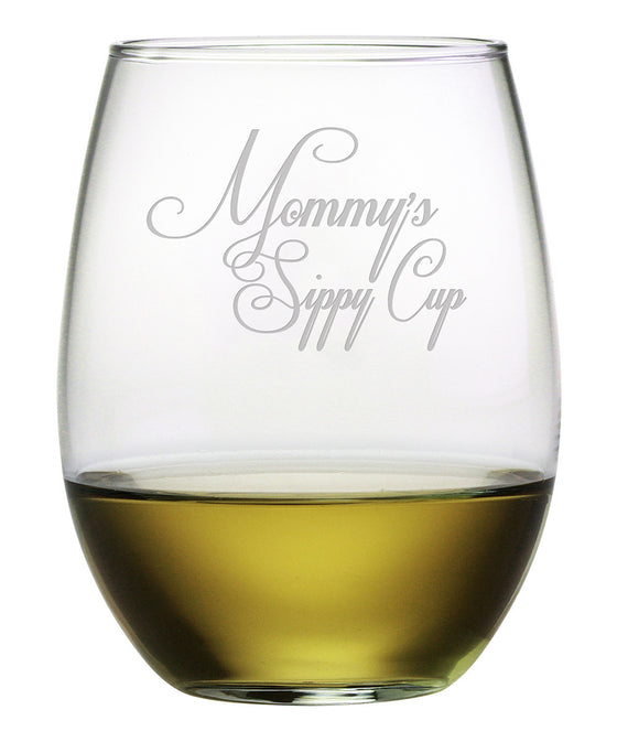 Mommy's Sippy Cup Stemless Wine Glasses - Premier Home & Gifts