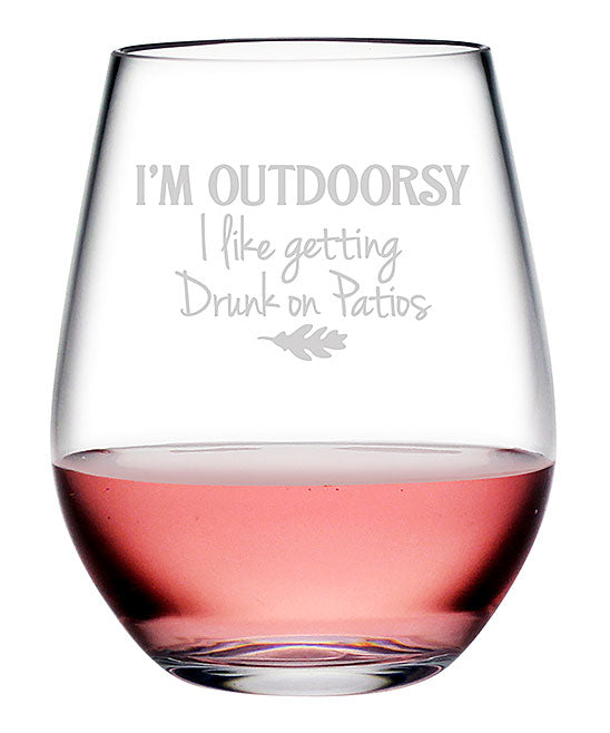 I'm Outdoorsy Tritan™ Shatterproof Stemless Tumblers - Fun Gifts