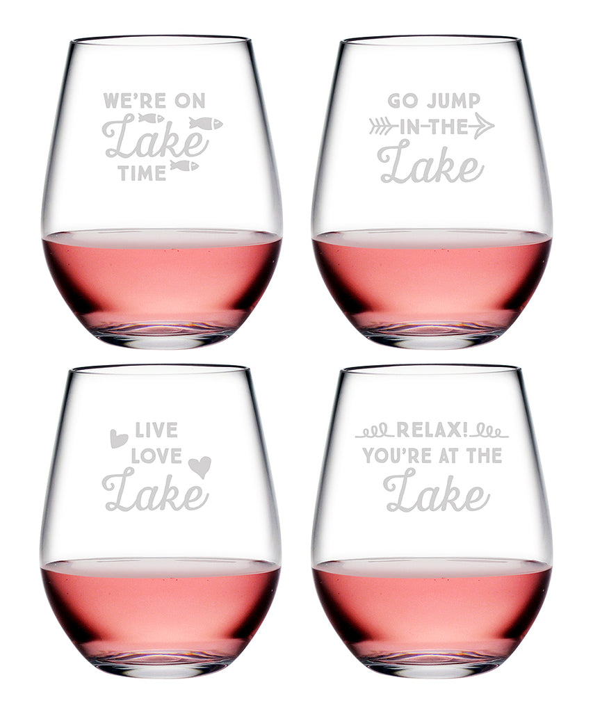 Lake Talk Tritan™ Shatterproof Stemless Tumblers - Lake House Gifts