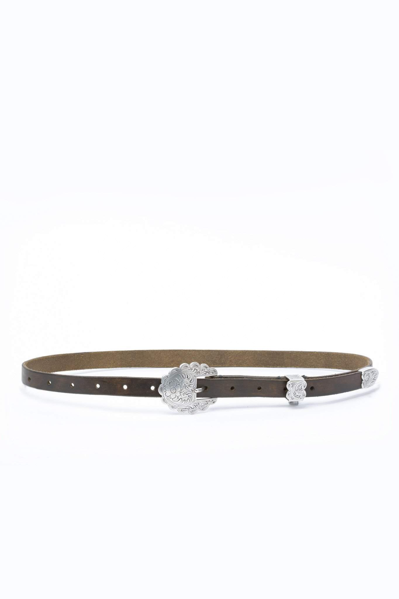 The Etched Silver Buckle Belt