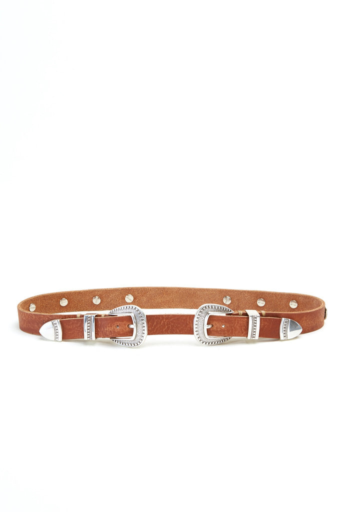 THE SUNNY SIDE DOUBLE BUCKLE BELT- BUFFALO TRACE