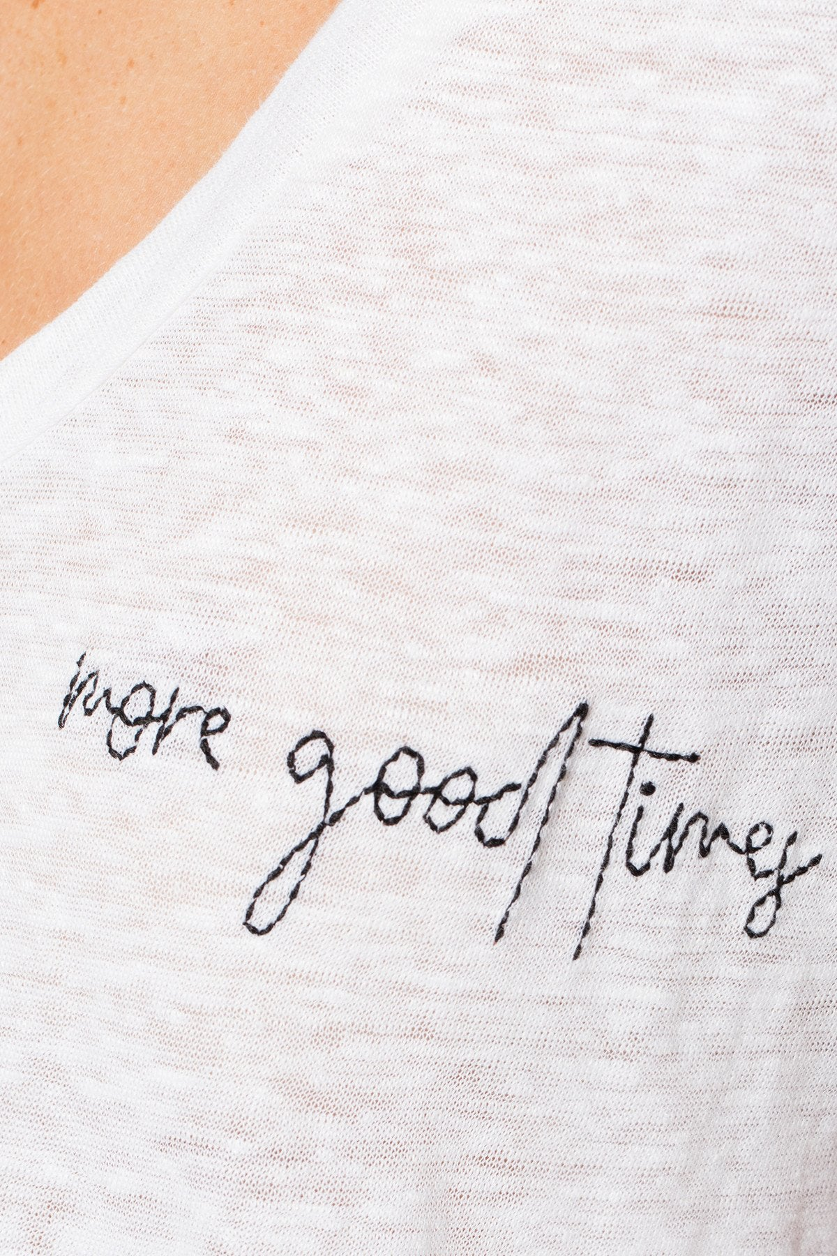 The Linen Scoop Neck Tee- More Good Times