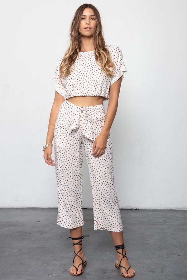 THE PACIFIC CROP & BOX TIE PANT SET