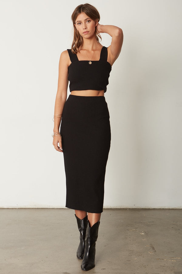 THE CLASSIC RIB SKIRT- HEAVY RIB