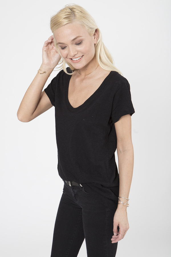 THE SCOOP NECK TEE- RECYCLED COTTON