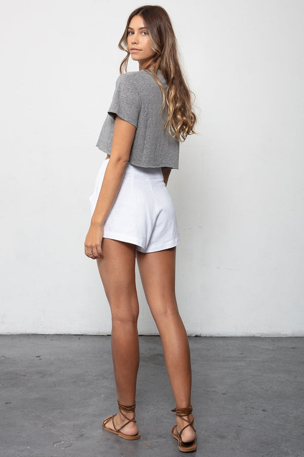 THE BOX TIE SHORT & BOYFRIEND CROP SET