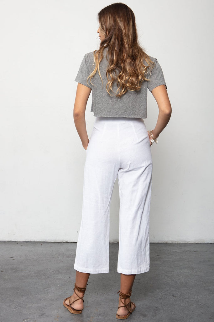 THE BOX TIE PANT & BOYFRIEND CROP SET