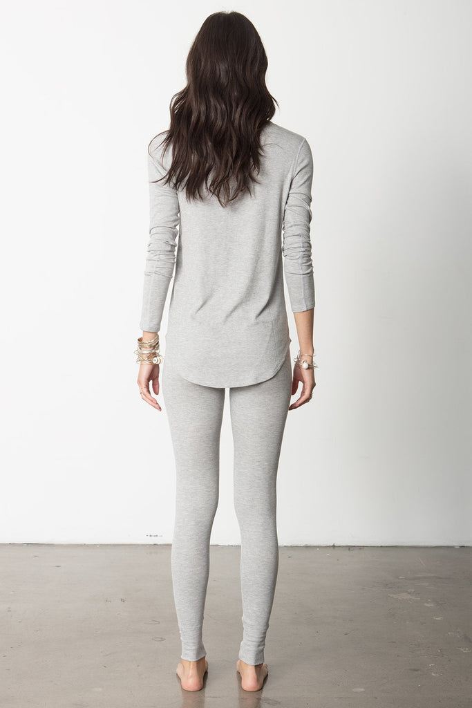 EASY FIT SNAP LONG SLEEVE HENLEY