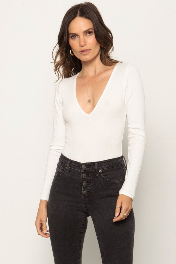 THE V NECK BODYSUIT