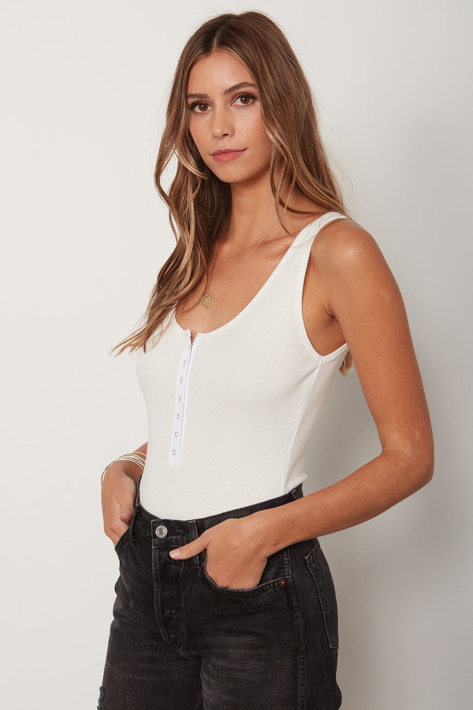 THE SNAP FRONT TANK BODYSUIT