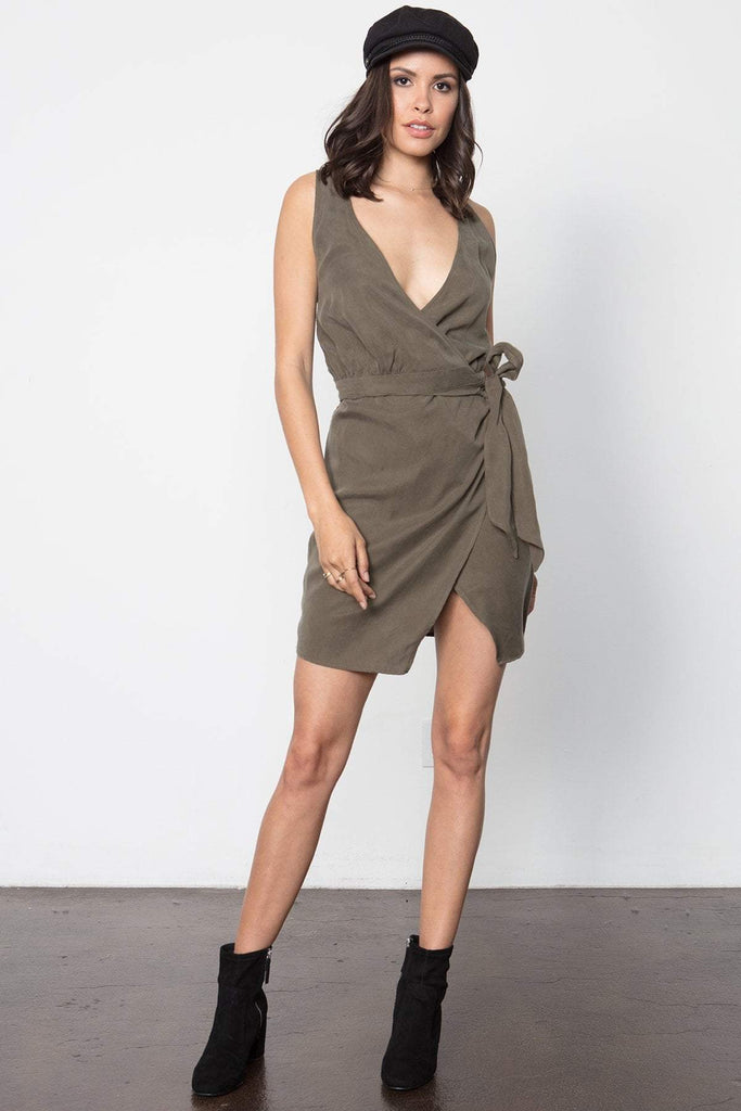 THE KNOTTY WRAP DRESS
