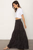 THE TIERED MAXI SKIRT & BOYFRIEND CROP SET
