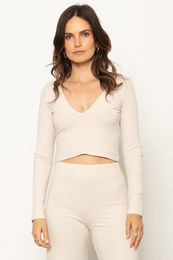 THE V NECK CROP