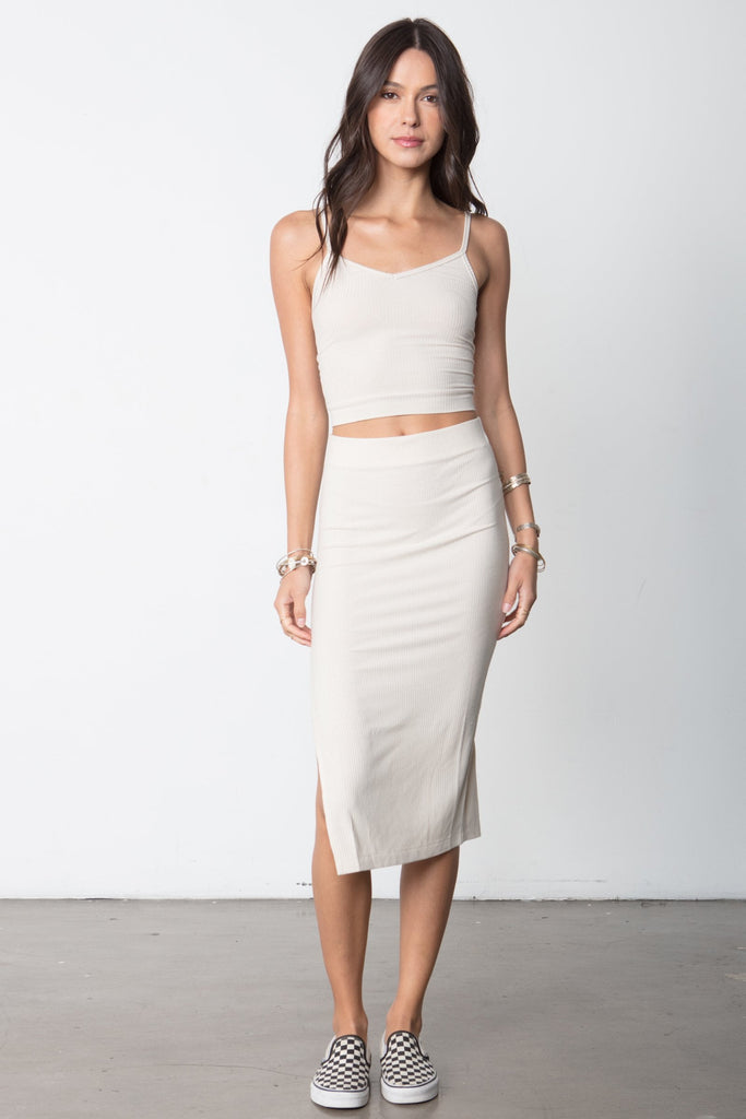 THE RIB EDIT SKIRT