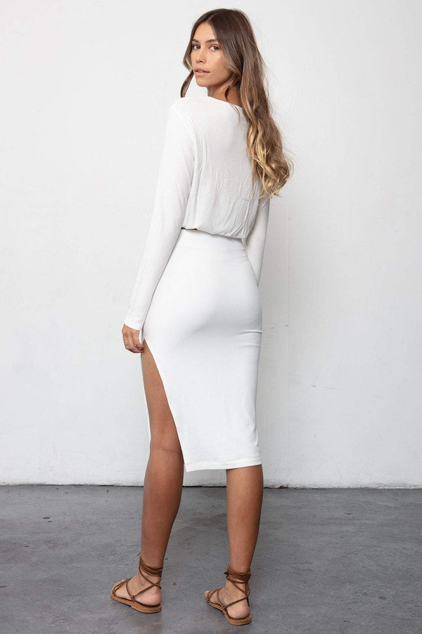 THE RIB EDIT SKIRT & TEYA TOP SET