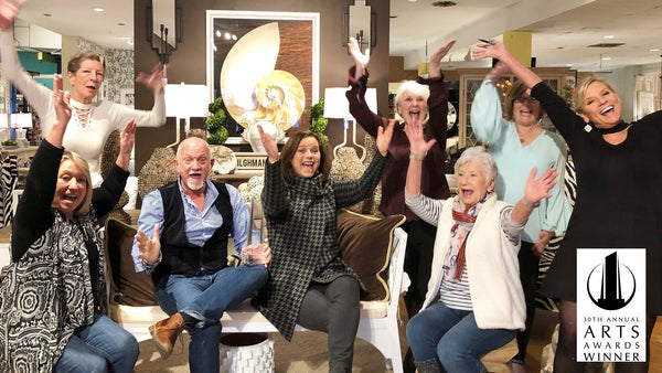 Bountiful Home team celebrates winning the prestigious ARTS Award for Best Home Accents Store East/Atlantic