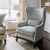 Home Furnishings from Bountiful Home - wingback chair with gold-tone side table