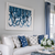 blue & white modern art in white frame and mat - Bountiful Framing, Eastern Shore of Maryland