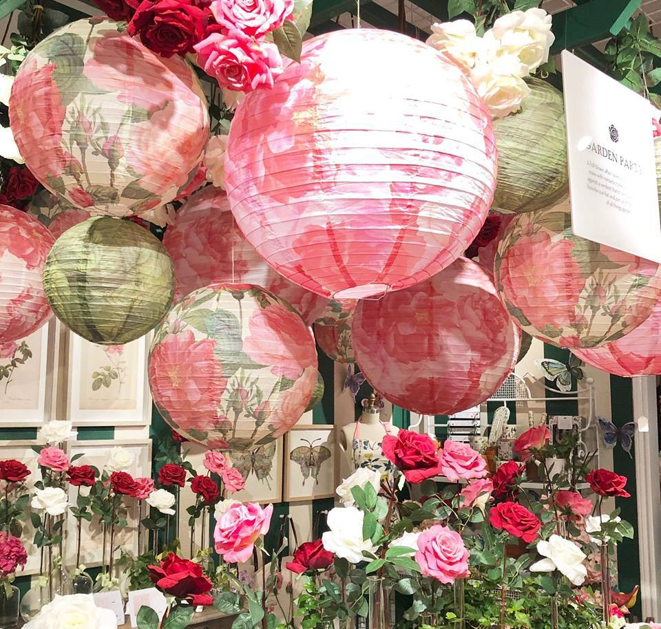 Pink paper lanterns from Two's Company