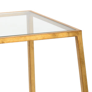Bauhaus Table from the Jamie Merida Collection for Chelsea House - zoomed in on gold leaf finish