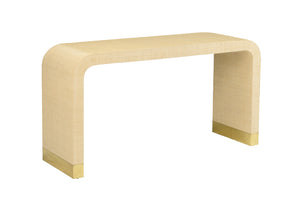 Waterfall console in cream raffia - Jamie Merida Collection for Chelsea House