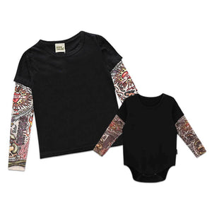 Baby Fashion Tattoo Arms Onesie / Fashion Kid Tee