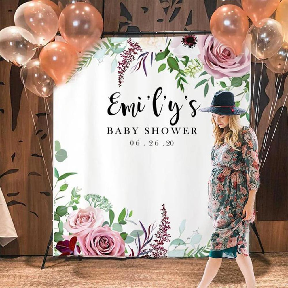 Custom Baby Shower Backdrop 03