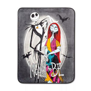 Before Christmas Moonlight Madness Throw - Measures 46 x 60 inches, Kids Bedding Features Jack Skellington & Sally - Fade Resistant Super Soft Fleece