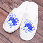 Custom Bling Bling Unicorn Slippers with Your Name - One Size Fits All