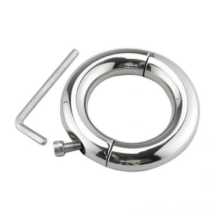 Stainless Steel Man's cock Rings Enhancer Chastity Rings with Wrench and screw