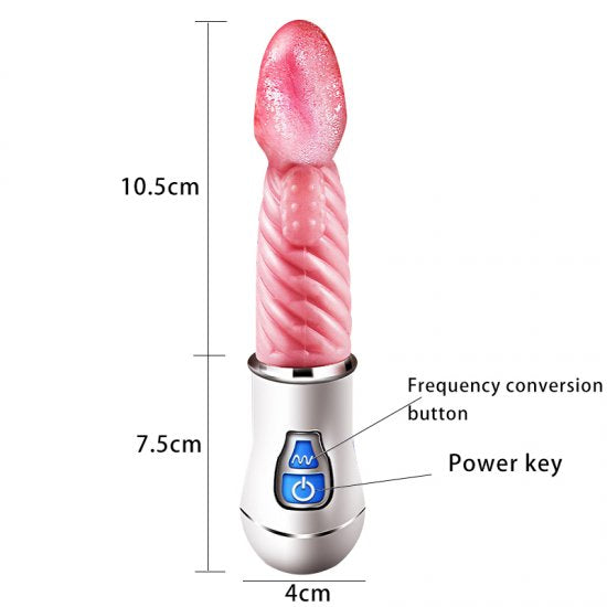 Rechargeable High Frequency Tongue Shape Vibrator Stimulator Oral