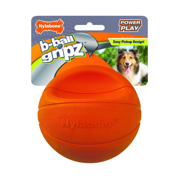 Nylabone Power Play Dog Basketball B-Ball Gripz