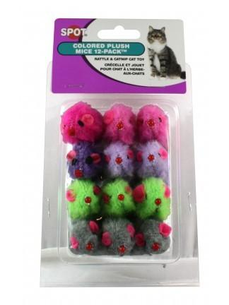 Ethical Products 12 pack color Plush Mice