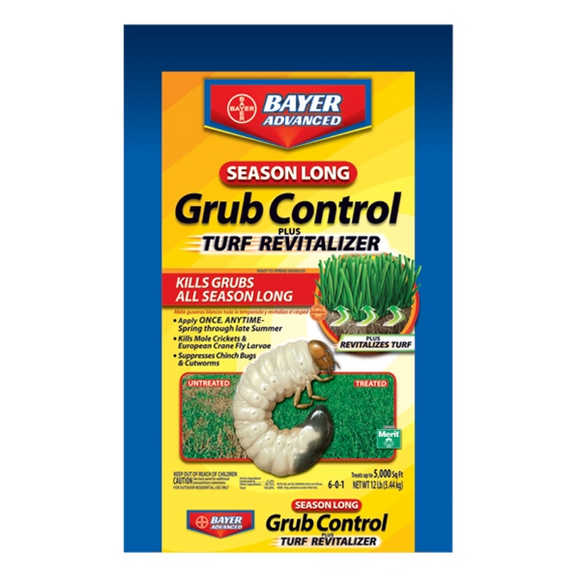 BAYER ADVANCED SEASON LONG GRUB CONTROL PLUS TURF REVITALIZER 5M