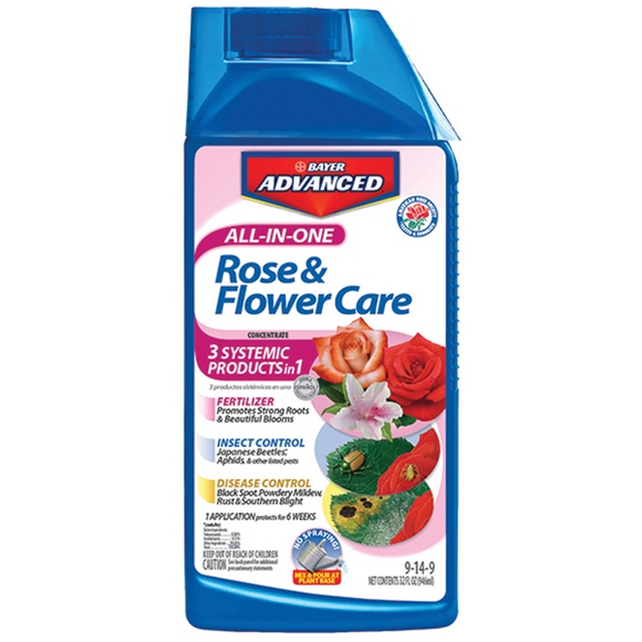 BAYER ADVANCED ALL-IN-ONE ROSE & FLOWER CARE CONCENTRATE