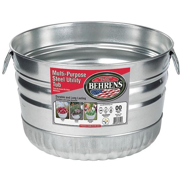 BEHRENS GALVANIZED STEEL UTILITY BASKET TUB