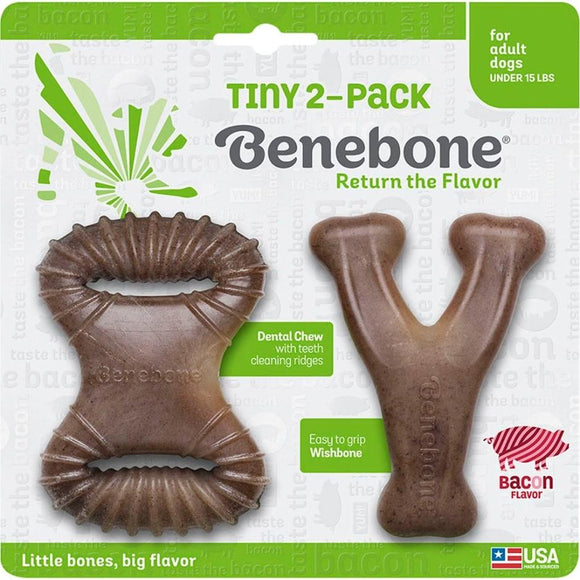 BENEBONE TINY PACK DENTAL CHEW/WISHBONE