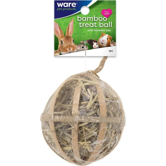 CRITTER WARE BAMBO TREAT BALL W HAY