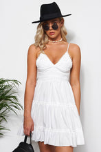 Load image into Gallery viewer, Lix White Crochet Dress