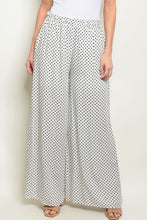 Load image into Gallery viewer, Womens Off White Navy With Dots Pants