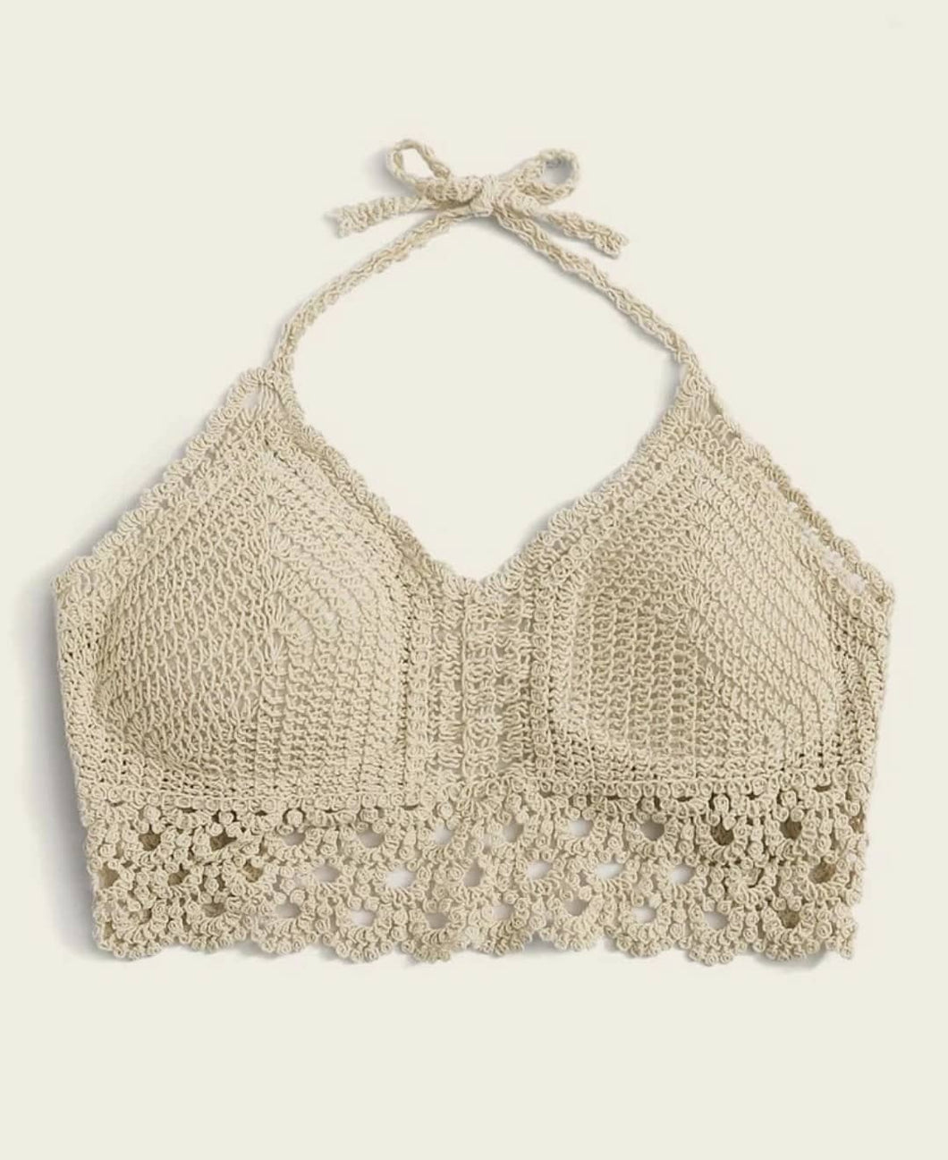 Woven top nude