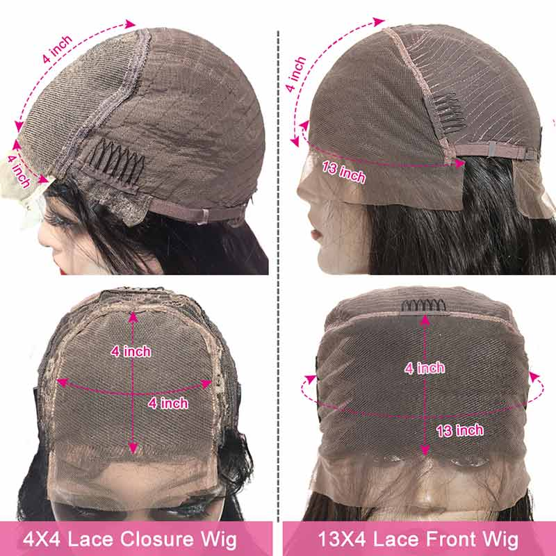 Peruvian Pre Plucked Straight Lace Front Human Hair Wigs-3